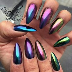 Chrom effect Nail art Koka Nails