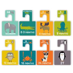 Baby Nursery Closet Dividers - we love this adorable animal design perfect for a baby boy nursery!