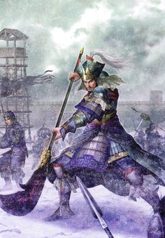View an image titled 'Zhang Liao (Wei) Art' in our Dynasty Warriors 5 art gallery featuring official character designs, concept art, and promo pictures. Character Concept, Character Art, Concept Art, Character Design, Fantasy Kunst Krieger, Dynasty Warriors 5, Fantasy Art Warrior, Chinese Armor, Samurai Warrior