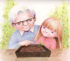 Иллюстрации Кэти Хэйр - Держась за проволочную сетку...