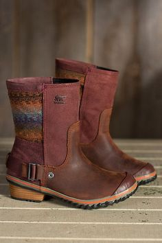 Women's Sorel Slimshortie Waterproof Leather Boots | Overland #shoes