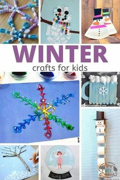 Winter crafts for kids that are perfect for a snowy day! Grab supplies (you already have most of them!) to make them at home, or enjoy them with your preschool class at school. These are easy to make but have a beautiful result! | Winter Crafts for Kids Christmas Crafts For Kids To Make, Easy Crafts For Kids, Diy For Kids, Winter Art Projects, Projects For Kids, Winter Christmas, Christmas Ornaments, Crafty Kids, Preschool Art