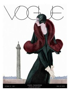 Vogue cover ~ Georges Lepape ~ October 1929