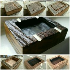 DIY wooden ashtray