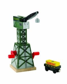 Thomas & Friends Wooden Railway Cranky The Crane Toy by Fisher-Price. $36.56. Cranky the Crane has a magnetic crane hook. Cranky can rotate and load cargo on both side of the track. Works great with any Thomas and Friends Wooden Railway set. Expand your world of Thomas and Friends and create your very own Thomas adventures. Brendam Docks is just one of the places to visit Cranky on the Island of Sodor. From the Manufacturer                Cranky keeps things moving at ...