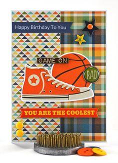 Basketball Theme Birthday Card by #thecardkiosk #basketballtheme #birthdaycard…