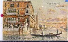 Bauer Grunwald, Venice,  Dined next to the statue