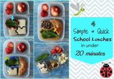4 simple fast school lunch ideas from @MamaBelly | LunchesWithLove - Must try!