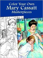 Color your own fine art for adults or kids. This one is one of my favorite artists, Mary Cassat.
