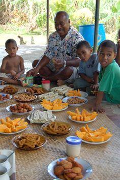 Fijian Food on Vorovoro Island