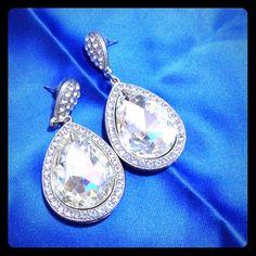 Big Teardrop Earrings Worn once for a party Jewelry Earrings