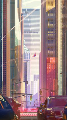 Spiderman City Buildings Mobile Wallpaper (iPhone, Android, Samsung, Pixel, Xiaomi) - Best of Wallpapers for Andriod and ios Wallpaper Animes, Man Wallpaper, Marvel Wallpaper, Mobile Wallpaper, Iphone Wallpaper, Disney Marvel, Marvel Art, Marvel Avengers, Captain Marvel