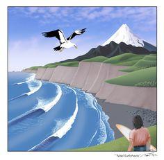 """'Naki SurfCheck"", digital art-print by Terry Fitz. Design, Creative Design, Digital Art, Digital Art Prints, Illustration, Creative, Fighter, Artwork, Poster"