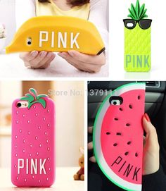 Find More Phone Bags & Cases Information about Newest Victoria/'s Secret PINK Luxe Glasses pineapple Strawberry Banana Watermelon soft silicone case cover For iphone 4 4s/5 5s,High Quality case silicone iphone 4s,China case for xperia arc s Suppliers, Cheap case wood from SuperDream1988 on Aliexpress.com