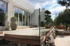 GLAS Rækværk, GLAS Terrasser, Bundskinne Sikret, GLAS Altaner, Sikkerheds Glas