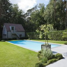 Monobloc zwembad in polypropyleen, luxe buitenzwembad met infini Outdoor Decor, Home Decor, Lush, Homemade Home Decor, Decoration Home, Interior Decorating