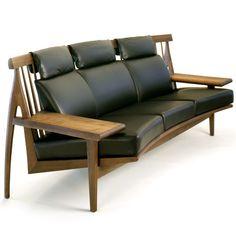 Yuzen Sofa By Noriyuki Ebina. An Ergonomic Curved Sofa With Live Edge Table  Arms