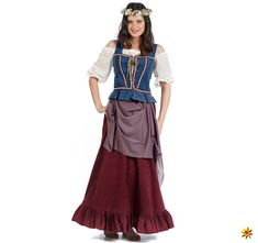 Damen Kostüm Mittelalter Wirtin Magd Magdalena | Krause & Sohn Onlineshop Maid, Bodice