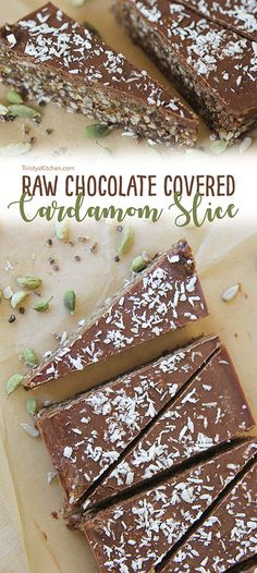 Raw Chocolate Covered Cardamom Slices – vegan, gluten-free, no-bake – Trinity's Conscious Kitchen