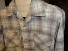 Vintage Pendleton Shadow Plaid Nos BOARD shirt by Simplemiles, $43.60