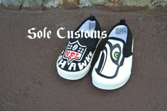 Boutique Custom HandPainted Baby Toddler Seattle by SoleCustoms, $40.00