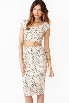 Cropped Top and skirt