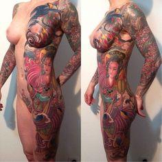 Bildergebnis für full body tattoo female