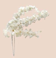 #tocado flores de jacintos #naturales para #novia #vintage