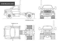 Ford F-750 CAD Block