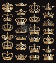 crown heraldry blazonry stock photo