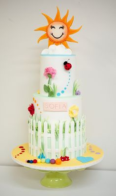 Ladybug cake inspiration.  Cool spring fun cake girly cake.
