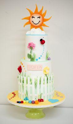 Ladybug cake inspiration.  Cool spring fun cake girly cake.