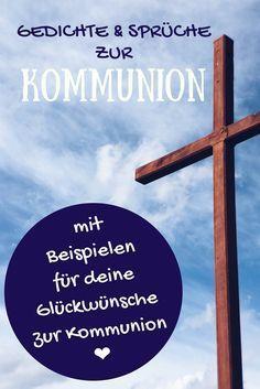 Gestalte deine Glückwünsche zur Kommunion mit Hilfe unserer Gedichte, Bibelverse & Sprüche zur Kommunion. Beispieltexte für Glückwunschkarten helfen bei der richtigen Wortwahl.