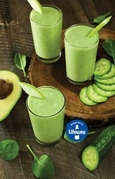 This Cleansing Green Kefir Smoothie with fresh cucumber, baby spinach, and apple is the perfect pick-me-up for blah days.