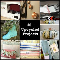 40  Upcycled and Recycled Crafts and DIY Projects
