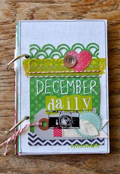 """Amy Tangerine's December Daily 2011 Cover"" ... Click on the 'DECDAILY2011' category to view the rest of her December Daily 2011 posts."