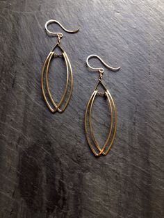 8855554f4f2e Gold Petal Earrings Loop Jewelry Gold Sterling Silver Rose