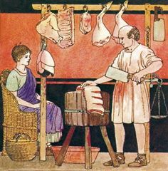 Reconstruction of Roman period butchery.