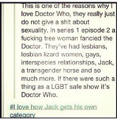 I really like how Jack is listed, and everyone understands where this went immediately.
