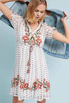 1b23b88dcdbed NWOT $168 MEADOW RUE ANTHROPOLOGIE White Johanna Embroidered Dress L Silk  Midi Dress, Boho Dress