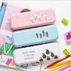 "$6.95 - ""Sunshine"" 1Pc Metal Pen Pencil Box Case Pencil Storage Box Study Stationary Box #ebay #Collectibles"