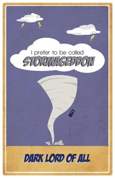 Doctor Who inspired Poster  Stormageddon Boy Baby by EskimoChateau, $16.00
