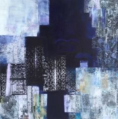 """Safar: journey Collage and mixed media 24"""" square"""