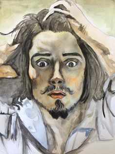"""Copy of """"The Desperate Man"""" by Courbet"""
