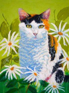 """Daisy"" - Original Fine Art for Sale - © Jill Bates"
