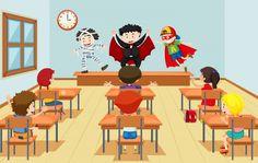 Children in drama class Premium Vector Samhain, Cartoon Icons, Cartoon Characters, Red Carpet Background, Mime Artist, Drama Class, Composition Design, Cartoon People, Couple Cartoon