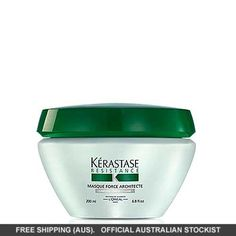 Kerastase Re sistance Masque Force Architecte For Weakened To Very Damaged Hair. Replenishing conditioner soothes, heals & protects while preventing split ends. Hair Mask For Damaged Hair, Luxury Hair, Health And Beauty Tips, Protective Hairstyles, Active Ingredient, Healthy Hair, Your Hair, Hair Care, Hair Color