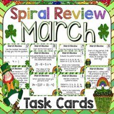 Math Spiral Review Task Cards $ Math Rotations, Math Centers, Math Lesson Plans, Math Lessons, Teaching Decimals, Spiral Math, Math Task Cards, Math Concepts, Math Facts