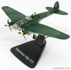 EDICOLA 4646103 Scale 1/144  HEINKEL HE 111P BOMBARDIERE AIRPLANE 1940 - LUFTWAFFE - GERMAN AIR FORCE MILITARY GREEN CAMOUFLAGE