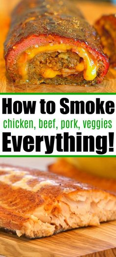 Smoker recipes for your pellet grill, Traeger smoker, electric smoker, whatever bbq type you have. How to cook the best ground beef, beef, chicken, pork, vegetables, everything. Traeger Recipes, Smoked Meat Recipes, Easy Meat Recipes, Ground Beef Recipes, Fish Recipes, Dinner Recipes, Hamburger Recipes, Oven Recipes, Dinner Ideas